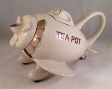Fitz and Floyd Airplane Teapot, RARE