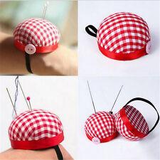 Ball Shape Needle Pin Cushion With Elastic Wrist Belt DIY Handcraft Cross Stitch