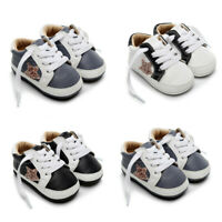 Baby Infant Newborn Girls Boys Star Shoes First Walkers Kids Lace-up Shoes