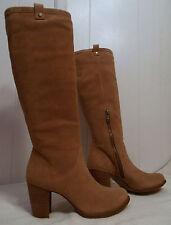 UGG 1013679 Australia Ava Suede Knee High Stacked Heel BOOTS Size 9 - Chestnut