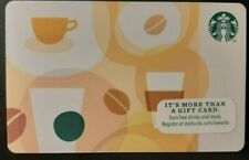 *STARBUCKS* 2012 Card -NEW Never Been Used 'Coffee Beans/Coffee Cups        (ZZ)