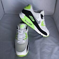 Nike Air Max 90 537384-103 essential white, flash black & neon green. Men's 10.5