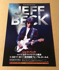 2017 Jeff Beck Japan concert tour flyer / mini poster / japanese Mint