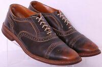 Allen Edmonds Strandmok Distressed Leather Cap Toe Oxford Shoe Men's US 11.5 3E