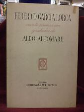 ALTOMARE - GARCIA LORCA - Buenos Aires,  Editorial Guillermo Kraft 1953