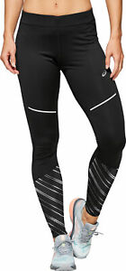 Asics Lite Show 2 Winter Womens Long Running Tights - Black