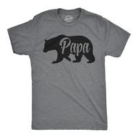 Mens Papa Bear Funny Shirts for Dads Gift Idea Novelty Tees Family T shirt