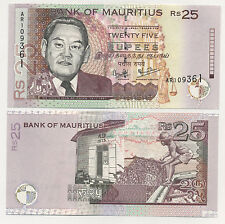 Mauritius 25 Rupee 1999 Pick 49.a UNC Uncirculated Banknote
