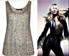 KATE MOSS TOPSHOP £150 UNIQUE TOP SPARKLY VTG WIRE RINGS 1/500 36 38 8 10(6 4)SM