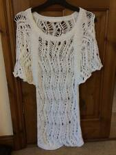 'NEXT' BNWOT ladies white knitted tunic top UK SIZE SMALL Petite [8-10] EX COND