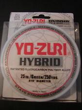 Yo-Zuri Hybrid Fluorocarbon 25lb 250yd Green Fishing Line 25 lb. 250 yd