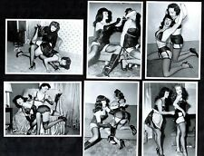 Betty Page & Friends Postcard Set I Pin-Up Girl Nylons Stockings Fetish Corset