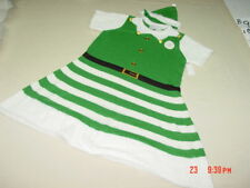 Nwt Christmas Elf Skater Knit Sweater Dress Green White 2 piece with hat Size 2X