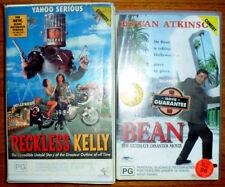 YAHOO SERIOUS RECKLESS KELLY & ROWAN ATKINSON BEAN DISASTER MOVIE VHS VIDEO X 2