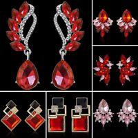 Colorful Crystal Rhinestone Drop Dangle Ear Stud Earrings Wedding Jewellery Gift