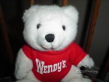 Wendy's Wendys Fast Food Restaurant Teddy Bear Collectible
