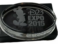 d23 expo 2015 glass paperweight with Mickey Mouse silhouette