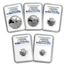 2015 Mexico 5-Coin Silver Libertad Prf Set PF-70 NGC (ER, 1.9 oz) - SKU #92521