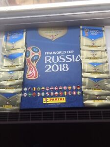 Panini World Cup Russia 2018 Album + 10 Sticker Packets Football Stickers