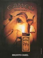 PUBLICITÉ DE PRESSE 1979 CAMEL LIGHTERS BRIQUETS CAMEL - CHAMEAU.