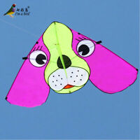 NEW 1.7M cute Dog animal kite outdoor fun sports Children's/family toys triangle