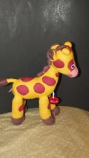 Trudi Spa Italy Plush Giraffe Stuffed Animal Sweater Knit yellow brown soft toy
