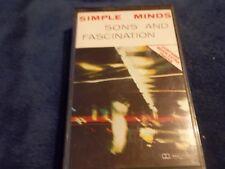 1981 AUDIO CASSETTE SIMPLE MINDS-SONS & FASCINATIONS- VG CON.