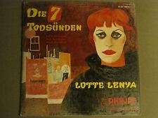 LOTTE LENYA DIE 7 TODSUNDEN LP PHILIPS B 07 186 L RARE GERMAN IMPORT KURT WEILL