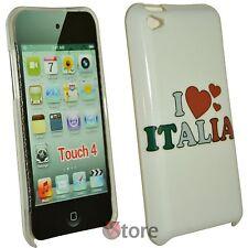 Cover Custodia Per iPod Touch 4 4G I Love Italia + Pellicola Proteggi Schermo