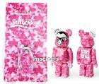 new~ Medicom X Stay Real 2nd Version Pink Camo 100% Be@rbrick Bearbrick figure