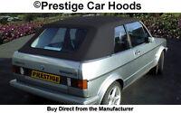 Volkswagen VW Golf Car Hood Hoods Soft Top Tops Roof Roofs Black Vinyl