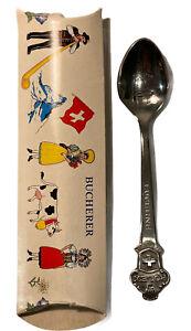 NEW Bucherer Switzerland Souvenir Spoon Rolex Original Box Stainless Lucerne