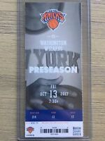 2017-18 New York Knicks NBA Official Mint Ticket Stubs - pick any game!