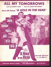 All My Tomorrows 1959 Frank Sinatra Eddie Hodges A Hole In The Head Sheet Music