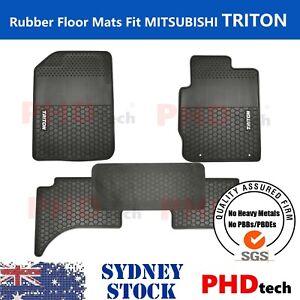 Premium Quality Mitsubishi Triton ML & MN Dual Cab All Weather Rubber Floor Mats