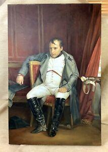 Original Painting Emperor Napoleon Bonaparte Portrait Canvas After H P Delaroche