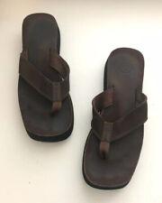 "Reef Womens Sandals Size 11 Brown Thong Flip Flop Wedge 1.75"" Platform"