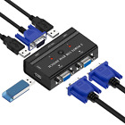 USB VGA KVM Switch 2 Port Selector Switcher for 2PC Sharing One Video Monitor
