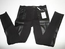 ~ Nordstrom Fire Los Angeles Faux Leather Panelled Legging Black Size S- NWOT