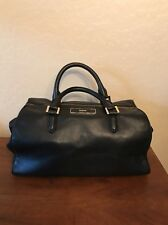 DKNY Donna Karen Butter Soft Black Leather Lamb Skin Doctors Bag Handbag Purse