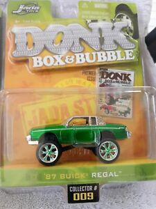 Jada Toys DONK Box & Bubble 87 Buick Regal Green New 1/64 Scale