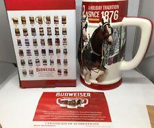 2018 Budweiser Holiday Stein Christmas Beer Mug Annual series Holiday Tradition