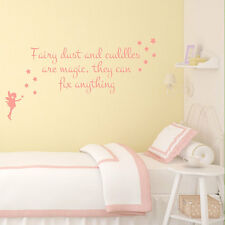 Fairy dust and cuddles wall sticker | Fairy princess theme | Stickerscape