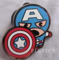 Disney Pin 109954 Marvel Kawaii Avengers Art Collection Mystery Captain America