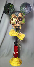 Zombie Mickey Mouse Sculpture Half Skull Perfectly Dreadful Halloween Paper