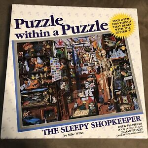 Puzzle Within A Puzzle THE SLEEPY SHOPKEEPER Jigsaw Great American Puzzle #9738