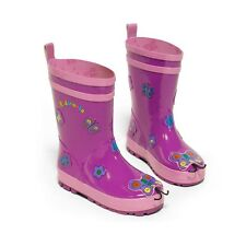 Kidorable Kids Children Boys Girls Waterproof Wellies Wellington Rain BOOTS UB100BY4 Butterfly UK Size 4