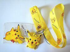 POKEMON KIDS LANYARD pikachu yellow cute anime Japan neck strap ID tag badge Z1