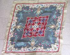 19C Antique Hand Embroidered Tapestry Gobelin Unfinished w/Woollen & Gold Thread