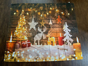 5x3ft Christmas Tree Candle Snow Decor Backdrop Background Photo Prop Scene Show